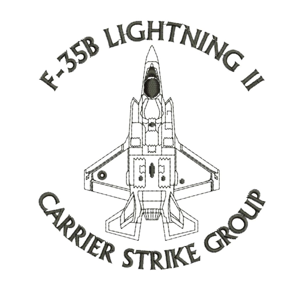 medium resolution of f 35b lightning ii carrier strike group f35 aircraft embroidered polo t shirt